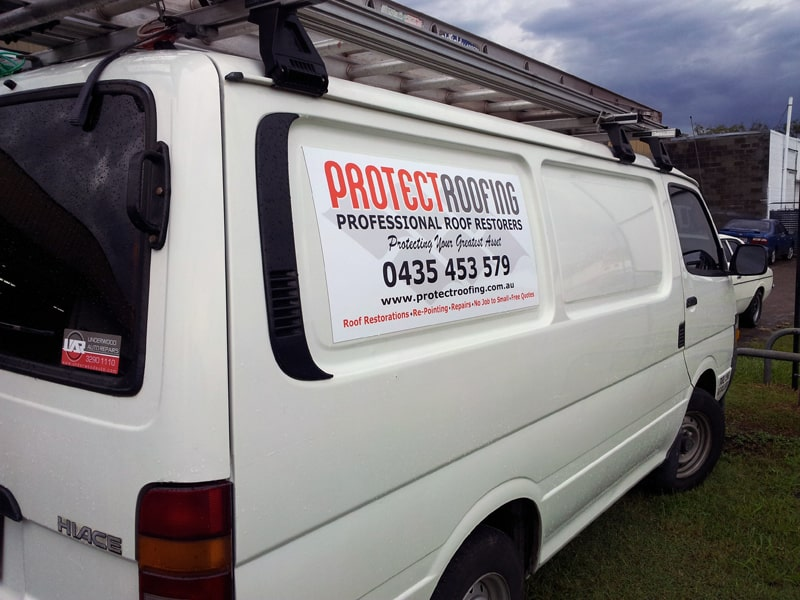 Magnetic Car Signs for Protect Roofing Brisbane