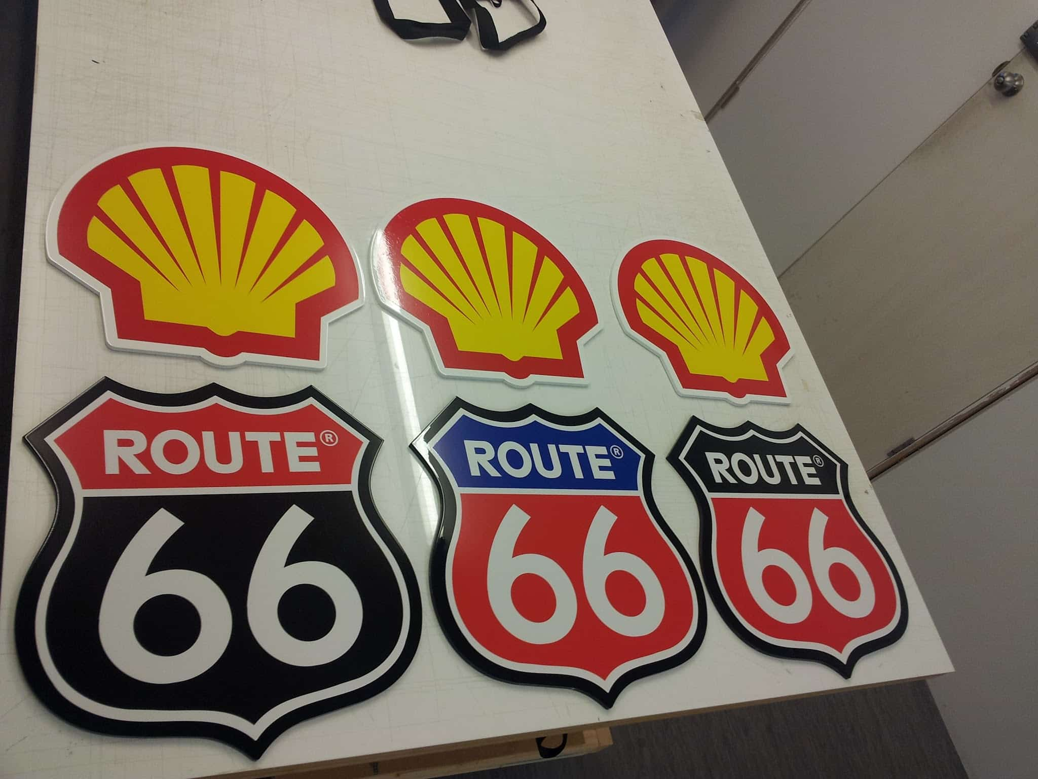 Painted Laser Cut MDF Signs -