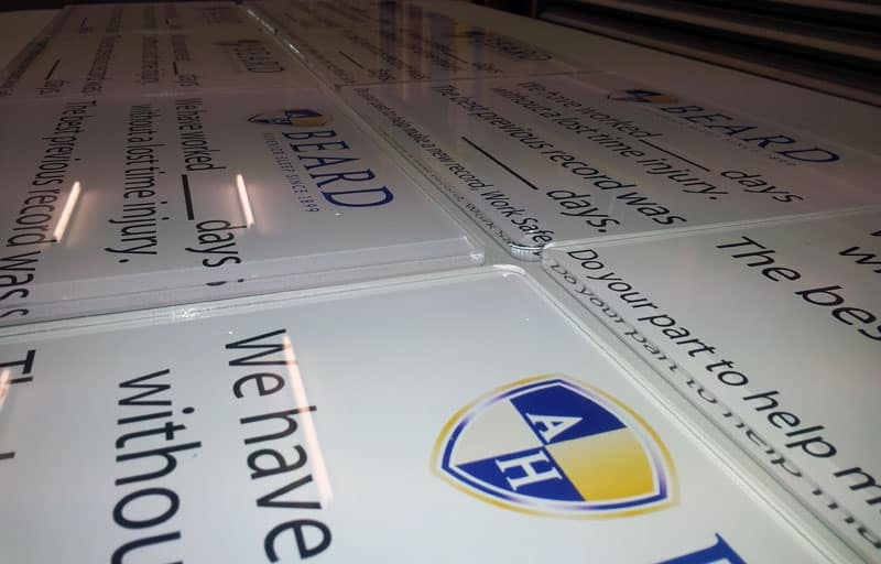 6mm Clear Acrylic Laser Cut with Digital Printed Custom Sticker