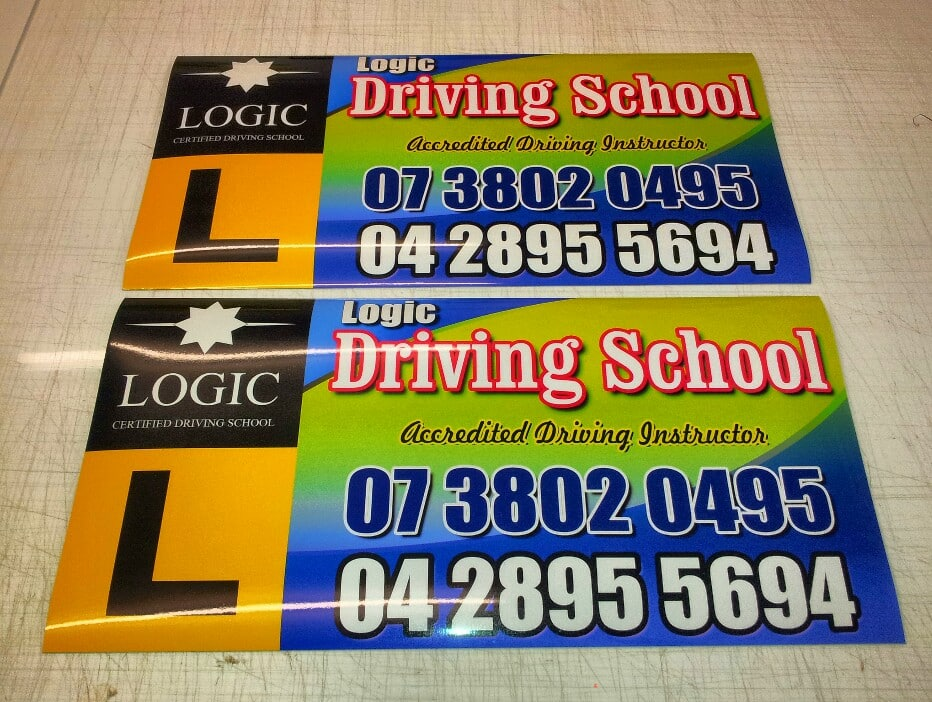 Magnetic Car Signs for Logic Driving School Brisbane - The Art of ...