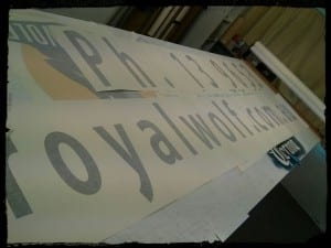 Printed Vinyl Cut Stickers For Royal Wolf Australia The Art Of - Custom vinyl cut stickers australia