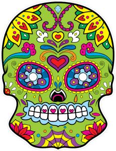 Sugar Skull Sticker Design
