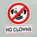 No Clowns Sticker
