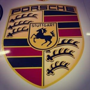 Custom Porsche Logo Sticker