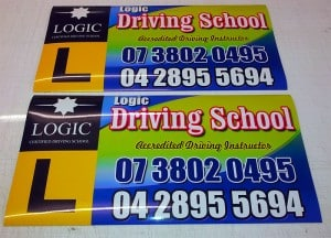 Magnetic Car Signs for Logic Driving School - Brisbane