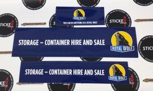 Custom Printed Stickers for Royal Wolf Australia